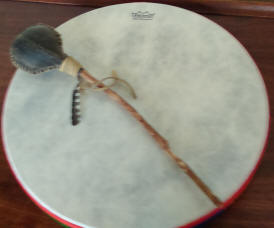 shamanic drum and rattle